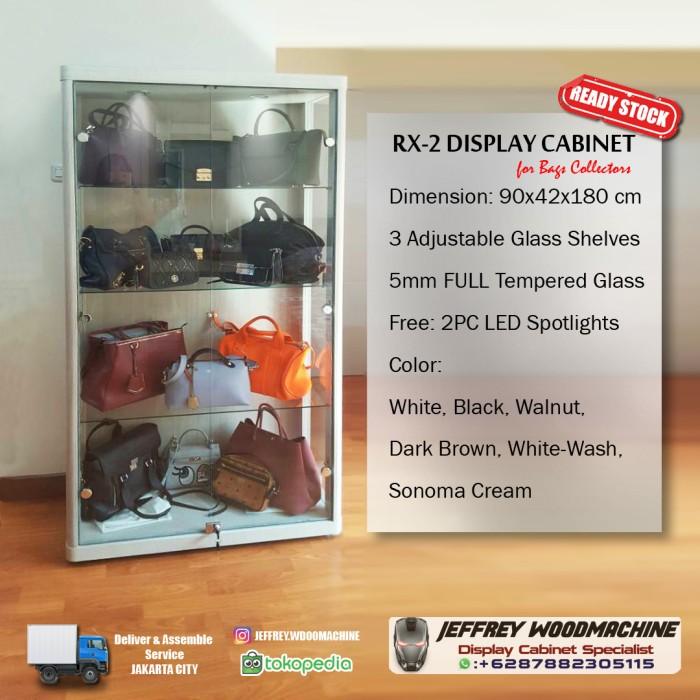 Jual Lemari pajang kaca display tas piala lego mainan RX-2 ...