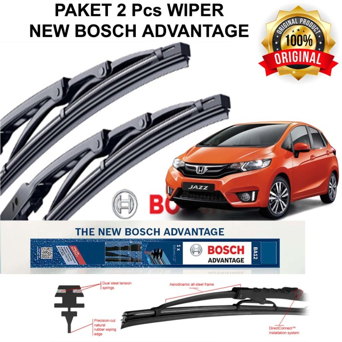 harga Wiper mobil all new jazz 3rd gen gk5 bosch advantage 28  14  (kn - kr) Tokopedia.com