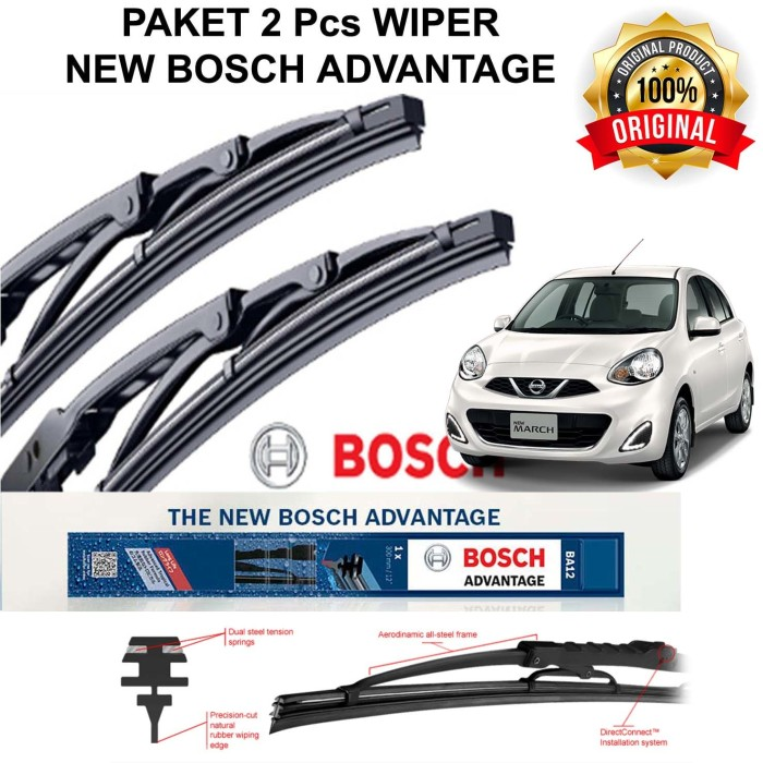 harga Wiper mobil march bosch advantage 2pcs 21 14 (kn - kr) Tokopedia.com