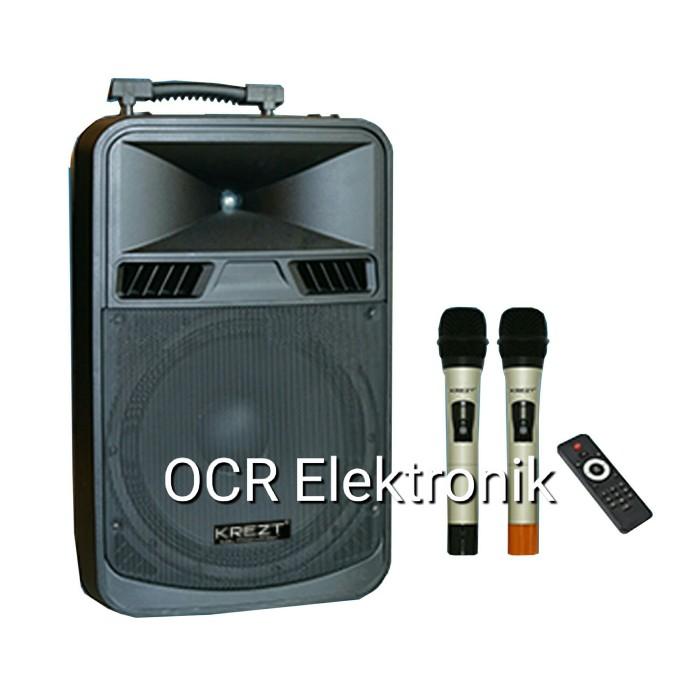 harga Portable speaker system krezt was-8412n bluetooth (12 inch) Tokopedia.com