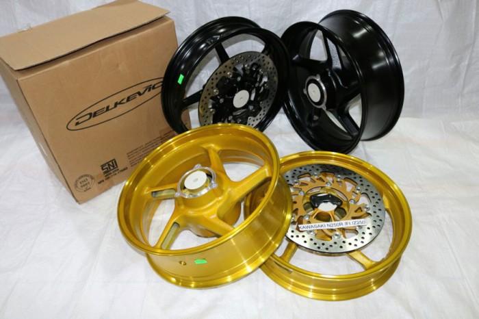 Velg Variasi Ninja N250Fi-Z250-N250R Gold Delkevic Single