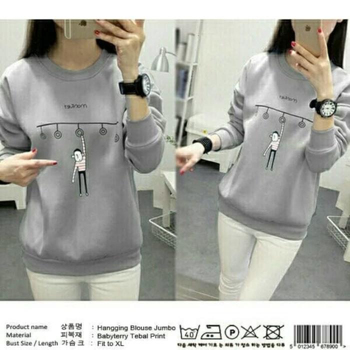 Daily Wear Blouse Sweater Wanita Tamani Blouse Cewek Baju Jalan ... c0dfbc850a