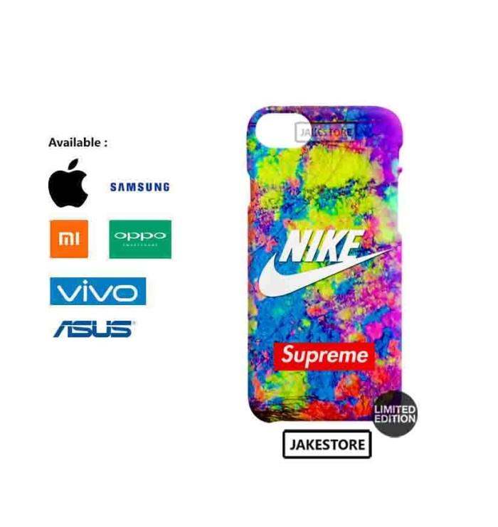 Jual Case Iphone 6 6s Plus Nike Supreme Color Logo Hardcase Iva Emas Tokopedia