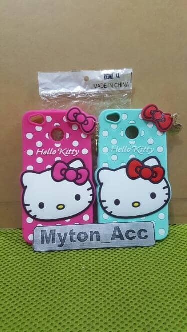 Case 4d Hello Kitty Xiaomi Redmi 4x 4 X Karakter Soft Silikon 3d