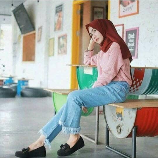 harga Rihana jeans celana jeans panjang wanita model terbaru Tokopedia.com .