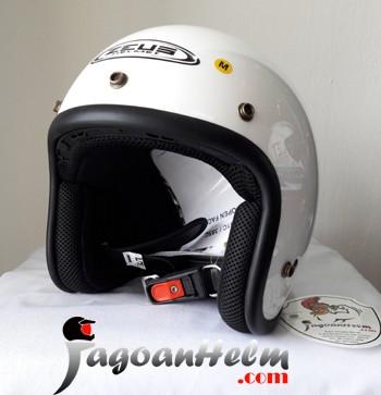 harga Zeus helm zs385 retro   white met. solid zs-385   zs 385 classic Tokopedia.com