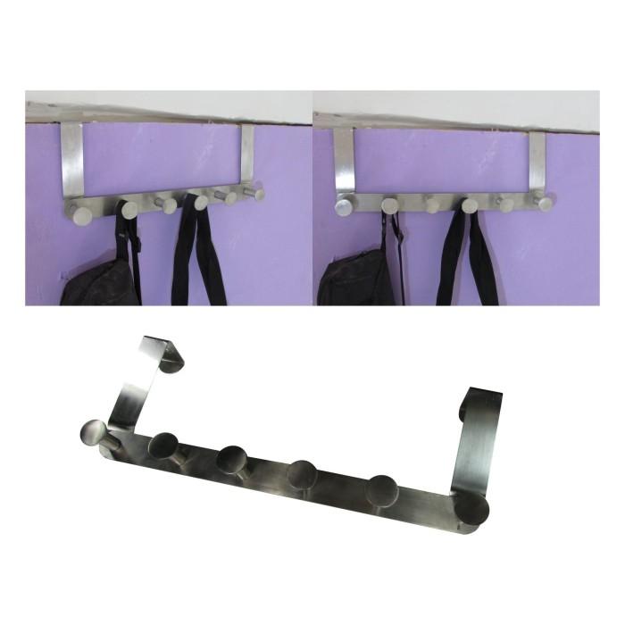 harga Gantungan pintu stainless steel untuk baju celana handuk dll tanpa Tokopedia.com