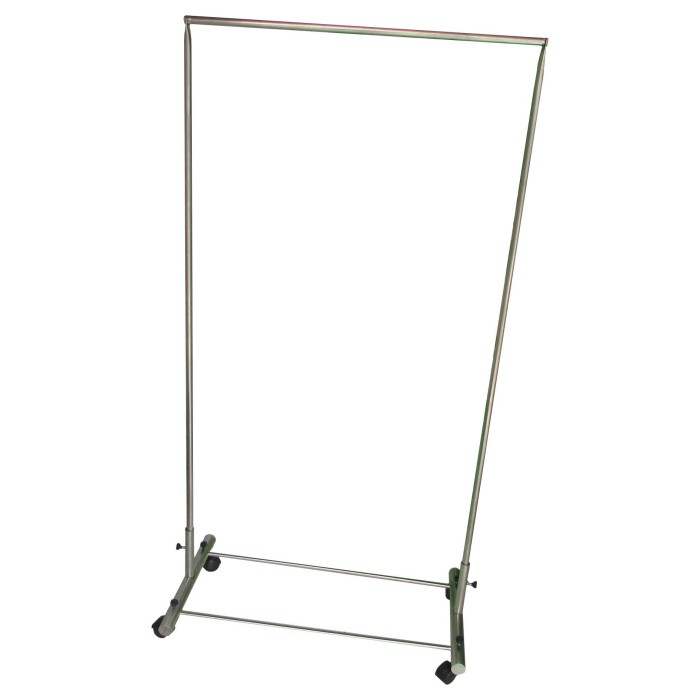 harga Lanjarjaya stainless steel rak gantungan baju 1 palang + roda Tokopedia.com