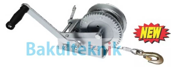 harga Hand winch single gear with wire rope -wipro Tokopedia.com
