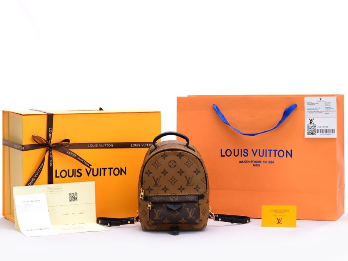 Jual Tas Ransel LV Backpack Louis Vuitton Palm Spring Mini Monogram ... 548d6a5143