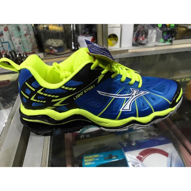 harga Sepatu voli mitzuda light star i blue green original + bonus kaos kaki  Tokopedia c91f290b5c