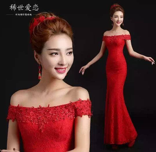 harga M8917 s53 maxi party long dress gaun baju pesta mermaid ada big size Tokopedia.com