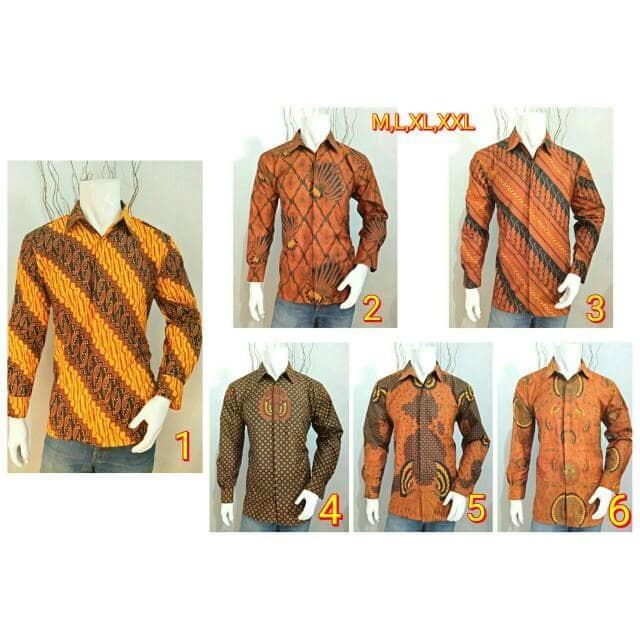 harga Kemeja etnik pria lengan panjang motif batik jawi murah ukuran m-xl Tokopedia.com