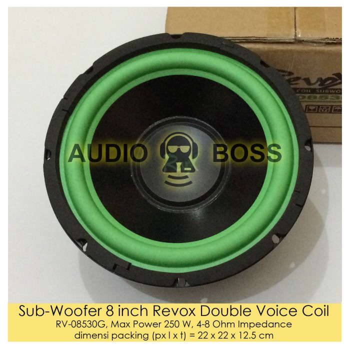 harga Subwoofer 8 inch revox double voice coil/subwoofer revox 8  voice coil Tokopedia.com
