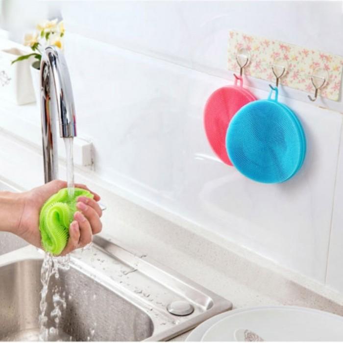 harga Silicone dish washing sponge brush scrub antibacterial Tokopedia.com