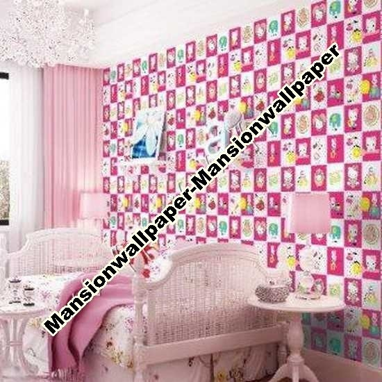 Jual Wallpaper Dinding Anak Hello Kitty Dki Jakarta Mansion