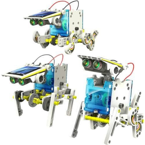 harga 14 in 1 transforming solar robot science & education diy toys kids Tokopedia.com
