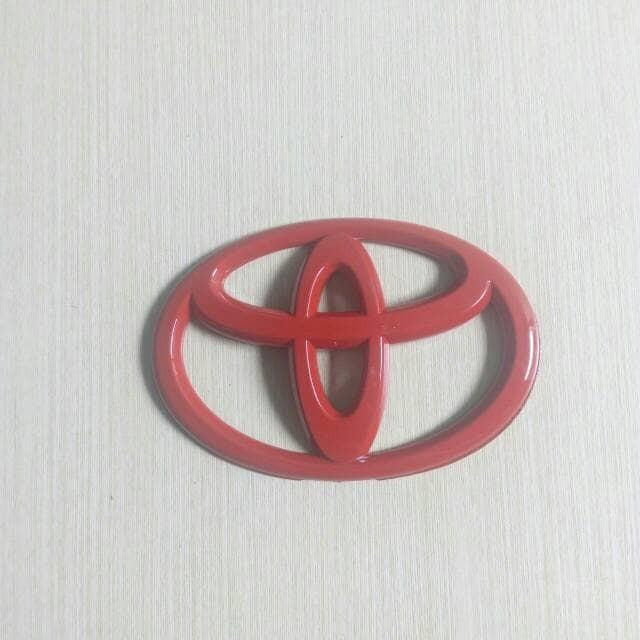 harga Emblem toyota merah model jdm ukuran 14cm Tokopedia.com