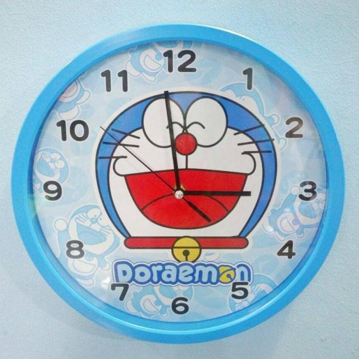 harga Jam dinding doraemon bulat biru tua Tokopedia.com