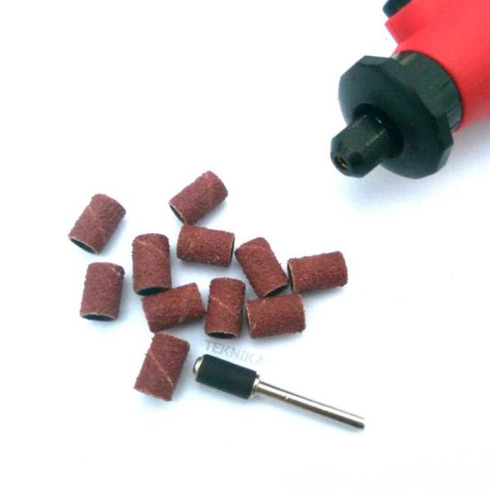 harga Paket 10 pcs amplas ring 1/4  mini grinder bor mini drill sanding drum Tokopedia.com