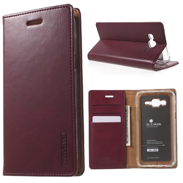 harga Samsung galaxy note 4 - goospery bluemoon flip cover wallet case Tokopedia.com