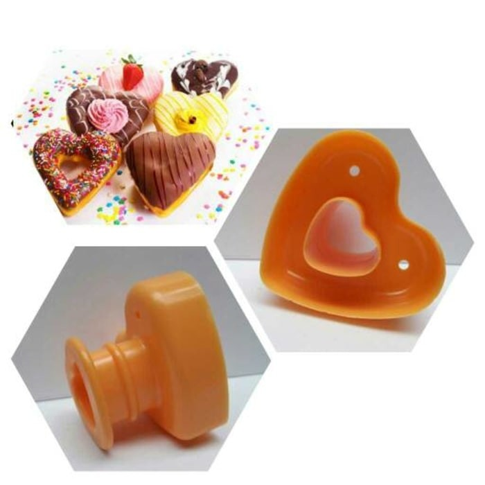 harga Supplier ecer grosir cetakan donat hati waru heart love donut cantik Tokopedia.com