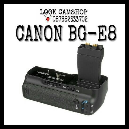 harga Baterai battery grip canon bg-e8 bge 8 for eos 550d 600d 650d 700d Tokopedia.com