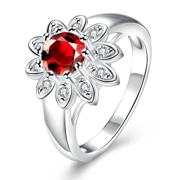 Jual Tiaria Romantic Engagement Ring Lknspcr731-7 Silver Plated Cincin Harga Promo Terbaru