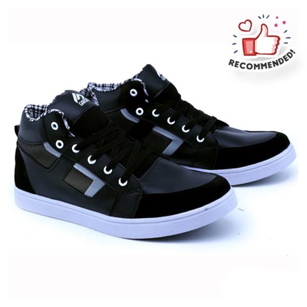 harga Sepatu sneaker casual hitam pria garsel shoes 100. grg 1037 Tokopedia.com