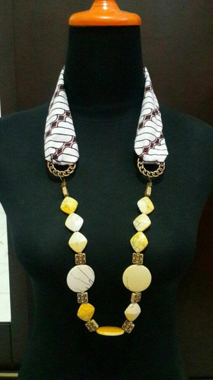 harga Kalung batik etnik craft ba05 batu fashion hijab kerajinan Tokopedia.com