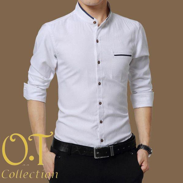 [koko mayer white ot] baju koko kantun stretch putih