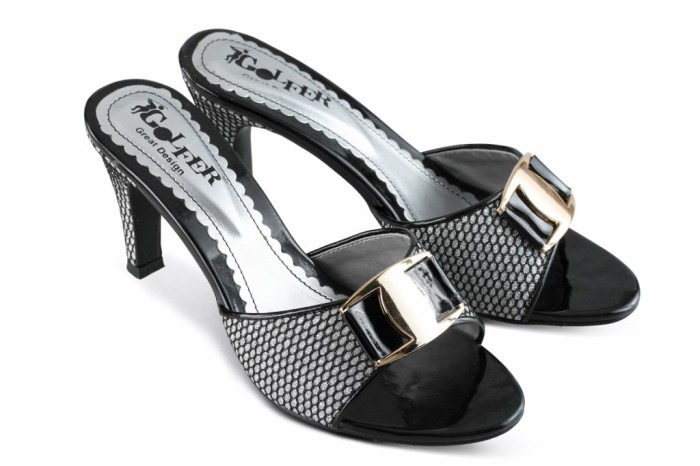 Foto Produk SANDAL HIGH HEELS WANITA BLACK SYNTETIS .407 dari Gazza Shoes