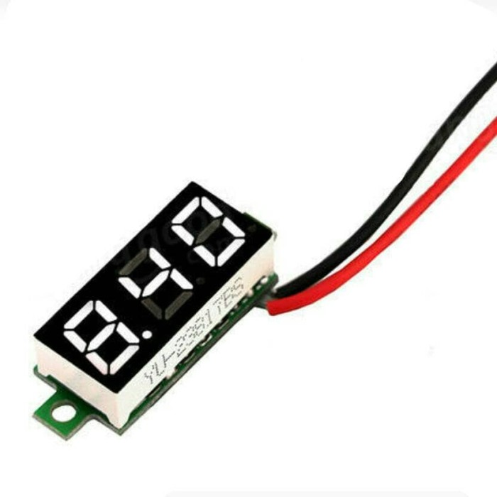 harga Mini 0.28  led voltage meter dc 3.0-30v small digital voltmeter tester Tokopedia.com
