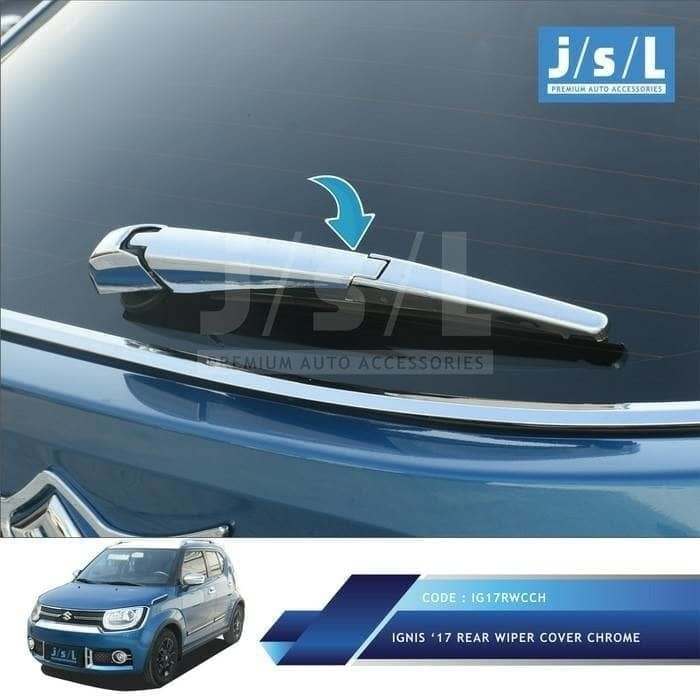 Garnish garnis cover wiper chrome suzuki ignis merek jsl i17rwcc
