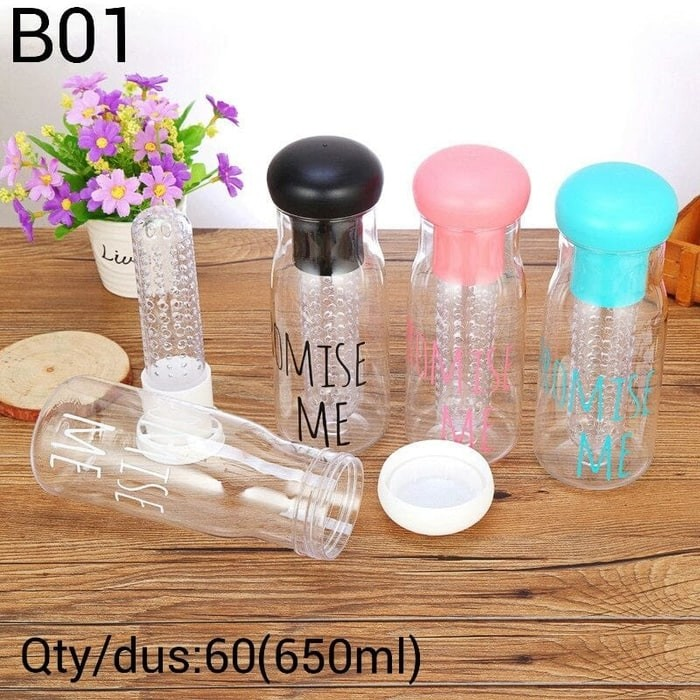Botol minum Promise Me - New My Bottle for Infused water B-01