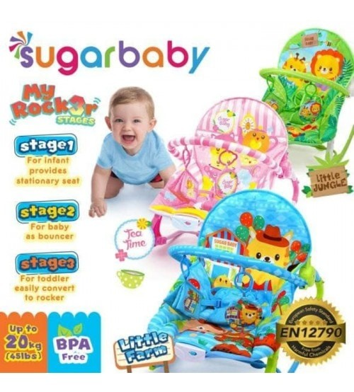 Foto Produk Sugar Baby My Rocker Premium Bouncer 3 Reclines - Merah Muda dari Rain Baby Shop