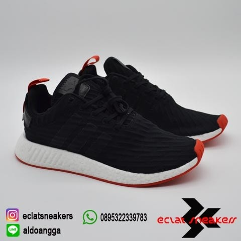 timeless design 3a7e1 d8353 Jual Adidas NMD R2 Core Black Red Two Toned Original/Legit New - DKI ...