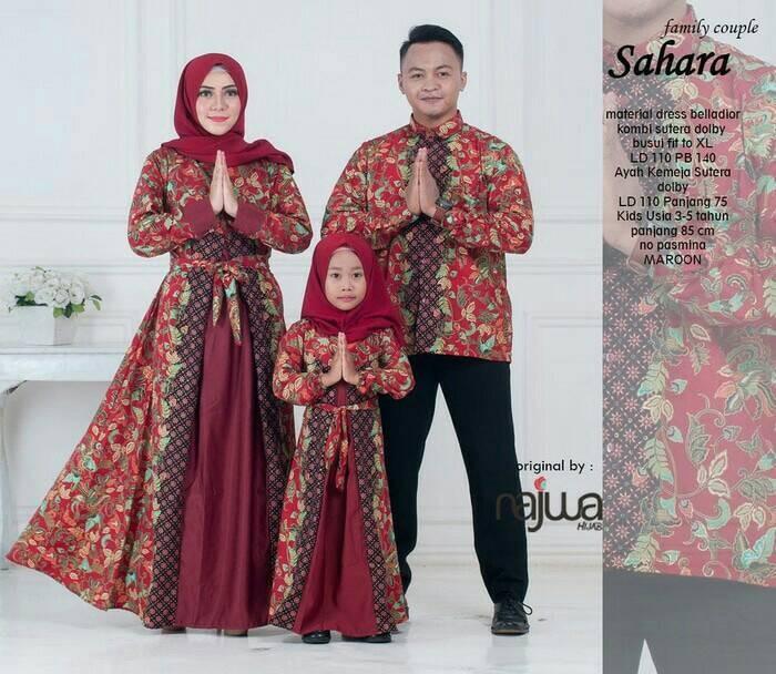 harga Baju batik couple sarimbit keluarga gamis sahara couple famili muslim Tokopedia.com