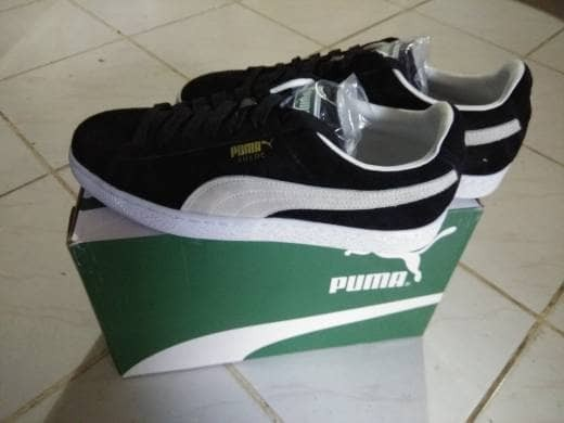 Classic 100 Walker Puma Paul new Original Suede Jual Blackhitam E87WqfE