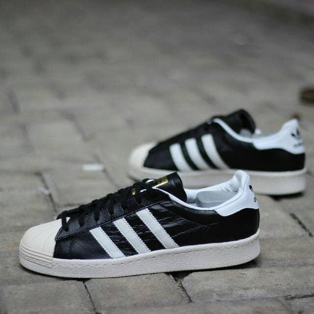 Jual Jual Sepatu Adidas Original Jogja Superstar 80s Black White ... 68316c4c30