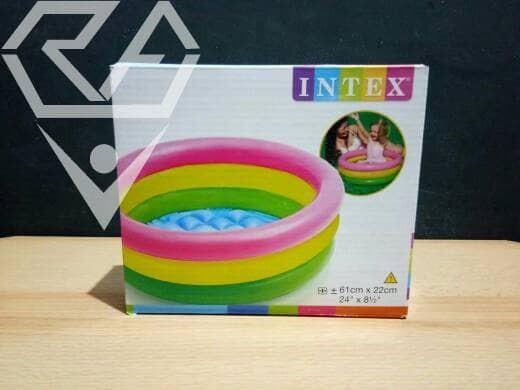 Jual Kolam Renang Plastik Karet Intex Ukuran 61cm X 22cm Kab Lamongan Rejeki Agung Group Tokopedia