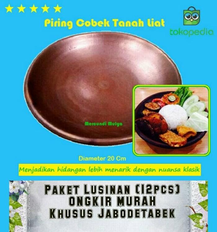harga Paket hemat piring cobek tanah liat per lusin halus warna semu hitamhc Tokopedia.com