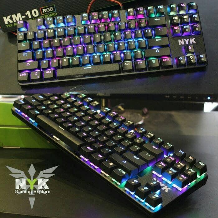 harga Nyk km-10 mechanical gaming keyboard nyk km10 tkl rgb Tokopedia.com