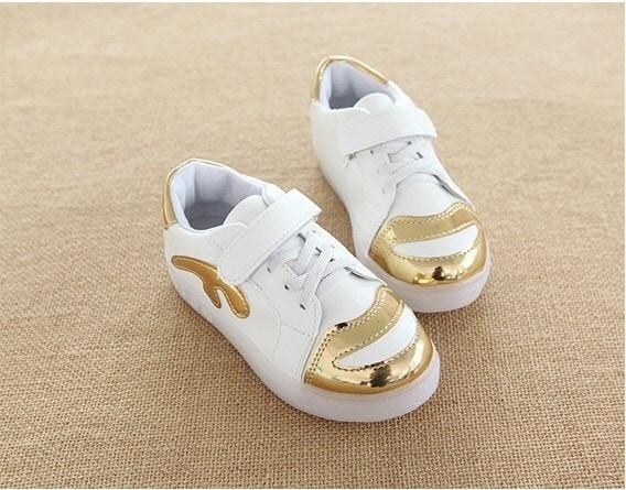 harga Sepatu anak sneakers metalik gold led - sneaker metalic led 26-30 Tokopedia.com