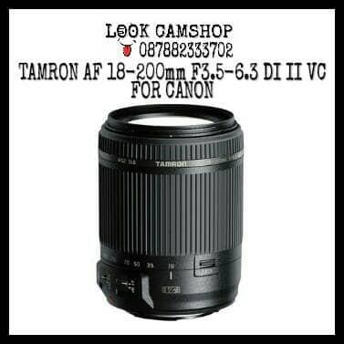 harga Lensa kamera dslr tamron 18-200mm 18-200 f3.5-6.3 di ii vc for canon Tokopedia.com