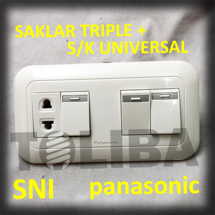 Jual Stopkontak Stop Kontak Universal 3 Saklar Saklar Triple Panasonic Jakarta Barat Toliba Tokopedia