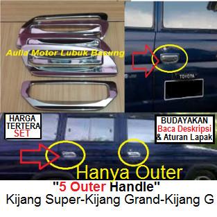 harga 5 aksesoris chrome outer handel kijang grand super g (set=isi 5) Tokopedia.com