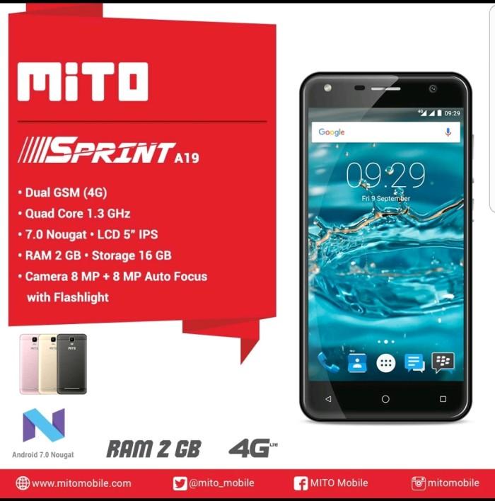 harga Mito a19 sprint pro 4g lte - 2gb/16gb - garansi resmi Tokopedia.com