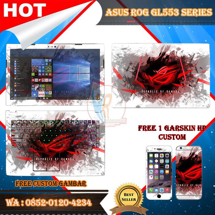 harga Original garskin laptop full body asus rog gl553 series motif gamer Tokopedia.com