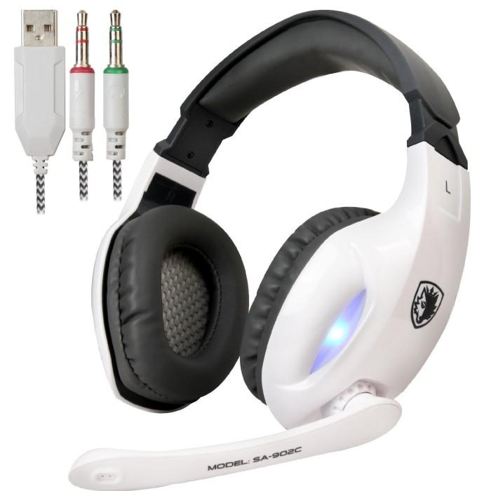 harga Sades sa-902c / sa-902 headset gaming headphone microphone - putih Tokopedia.com